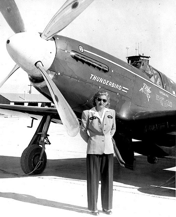Jackie Cochran and Thunderbird, (FAI)