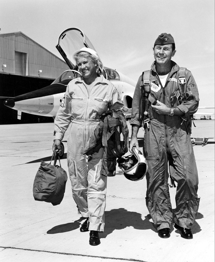 Jackie Cochran and Chuck Yeager
