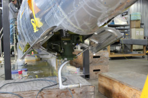 P-47 Razorback: Tail Wheel Installation