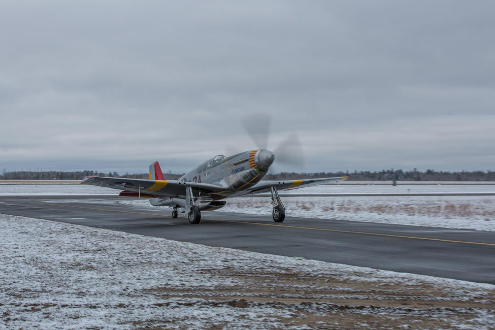 In February of 2016, the CAD Red Tail Squadron contacted AirCorps Aviation to take on the project of repairing the Tuskegee Airmen Red Tail P-51C after a landing accident.