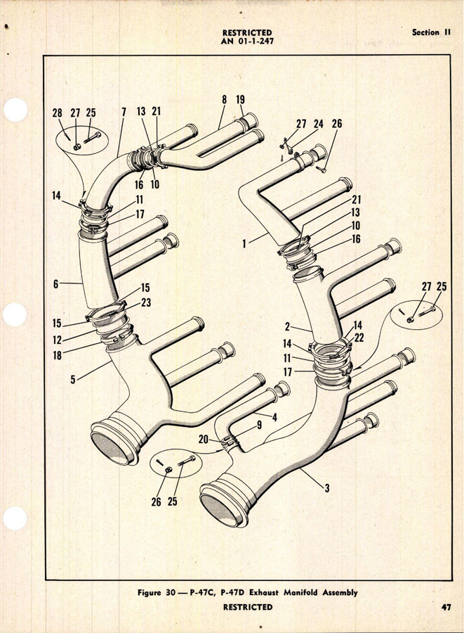 P-47: Exhaust System