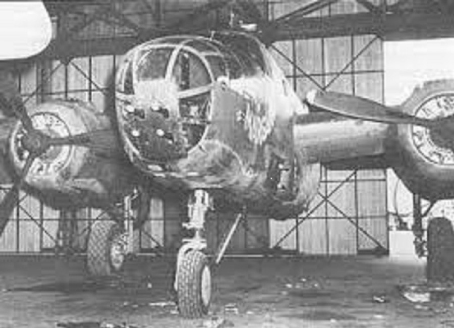 The first B-25 to be converted