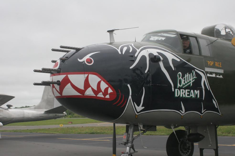 Fourteen gun installation in Dakota Territory Air Museum's B-25J, Betty's Dream, Chuck Cravens photo