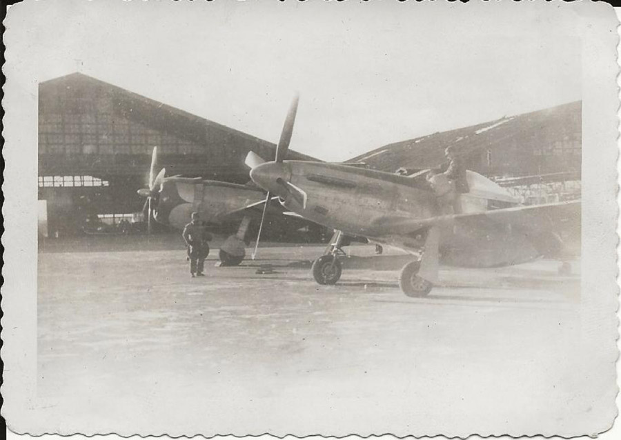 P-47 and P-51, probably at Clark Field, the Philippines in March of 1945