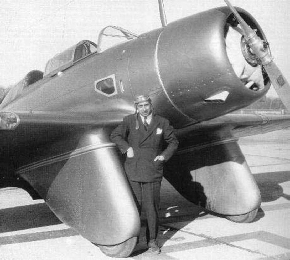 Alexander P. de Seversky and the SEV-3XAR in 1934. USAAC photo.
