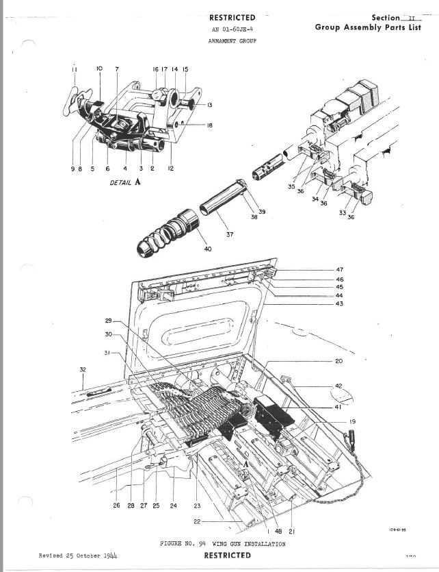 The black part, number 421 is the electrical gun heater.