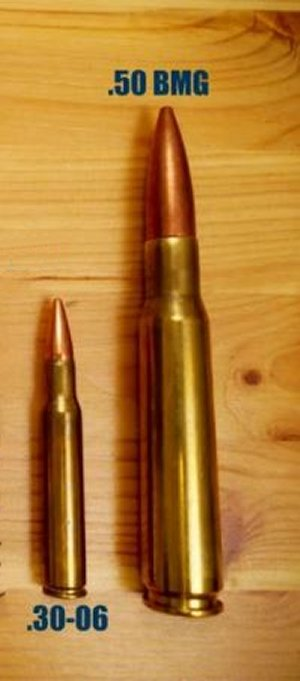 30 M1 (30-06) to .50 BMG cartridges