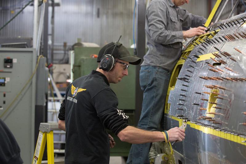 P-47: Fuselage Restoration Assembly Work