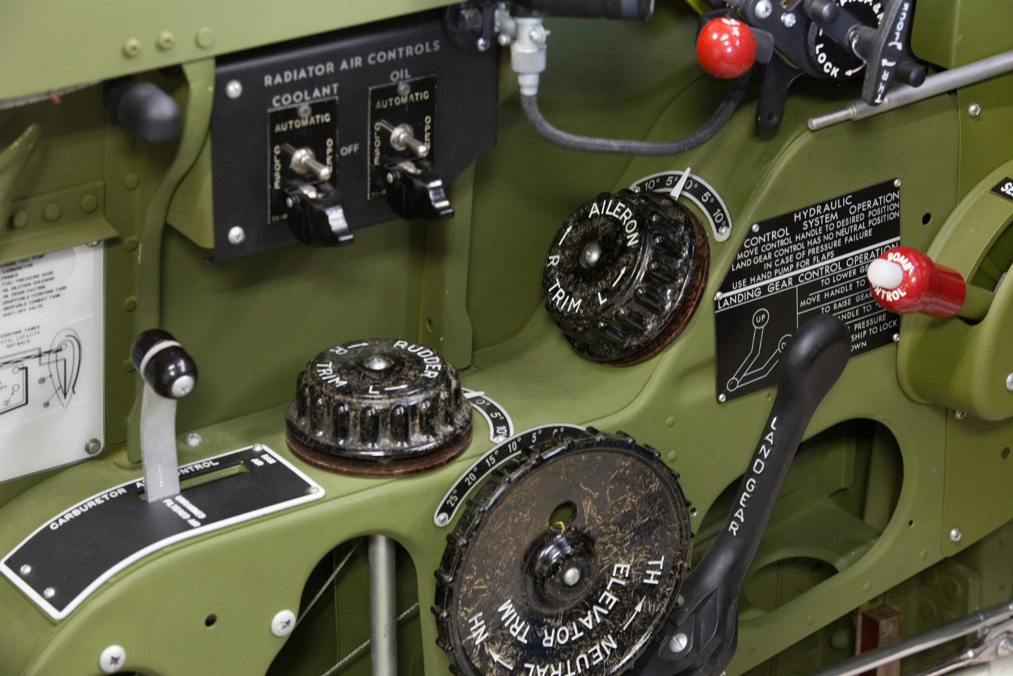 radiator air control switch box from P-51C Lope's Hope 3rd