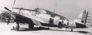 "Major Bill ""Dingy"" Dunham's P-47D-23 Bonnie"