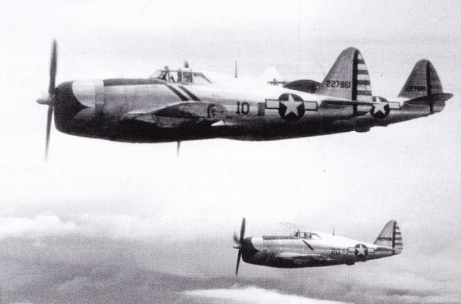 5th Air Force P-47D's in formation