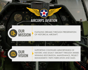 AirCorps Mission Vision Poster