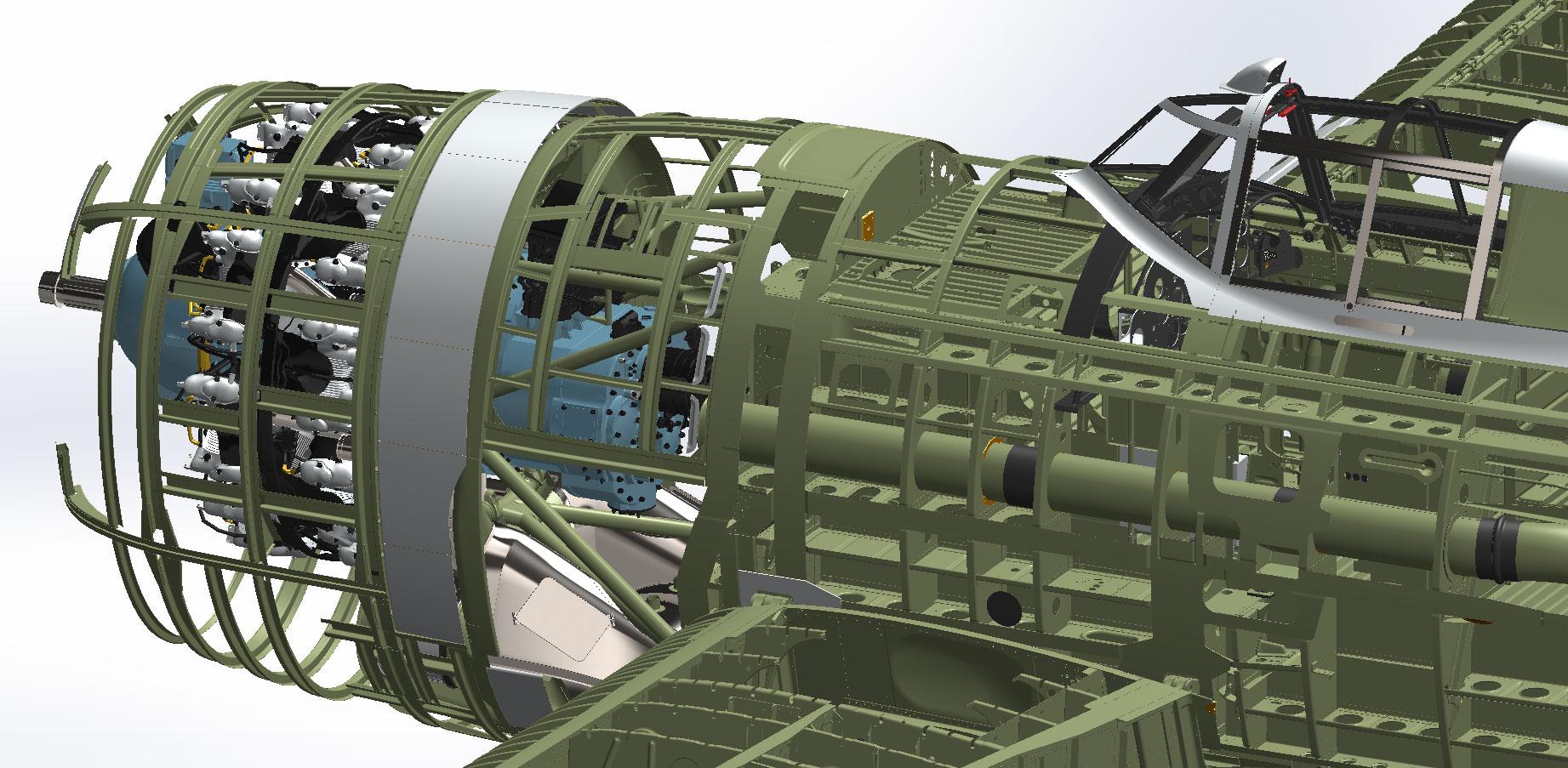 P-47 CAD Rendering