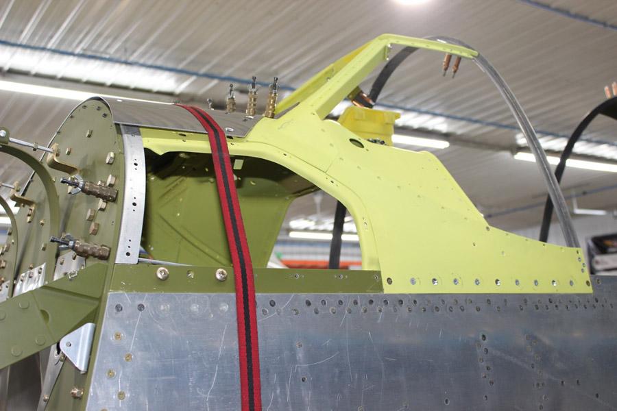 P-51C: Aileron Control Linkage