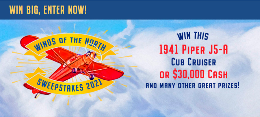 Support Wings of the North by entering their raffle with a chance to win a J-5A Cub Cruiser!