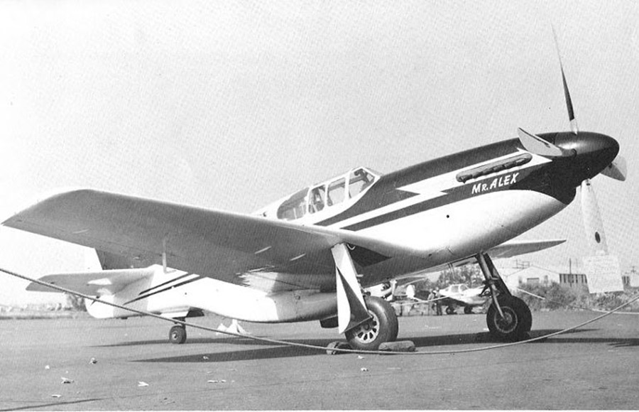 Mr. Alex on the ramp at an airshow, location and photographer unknown