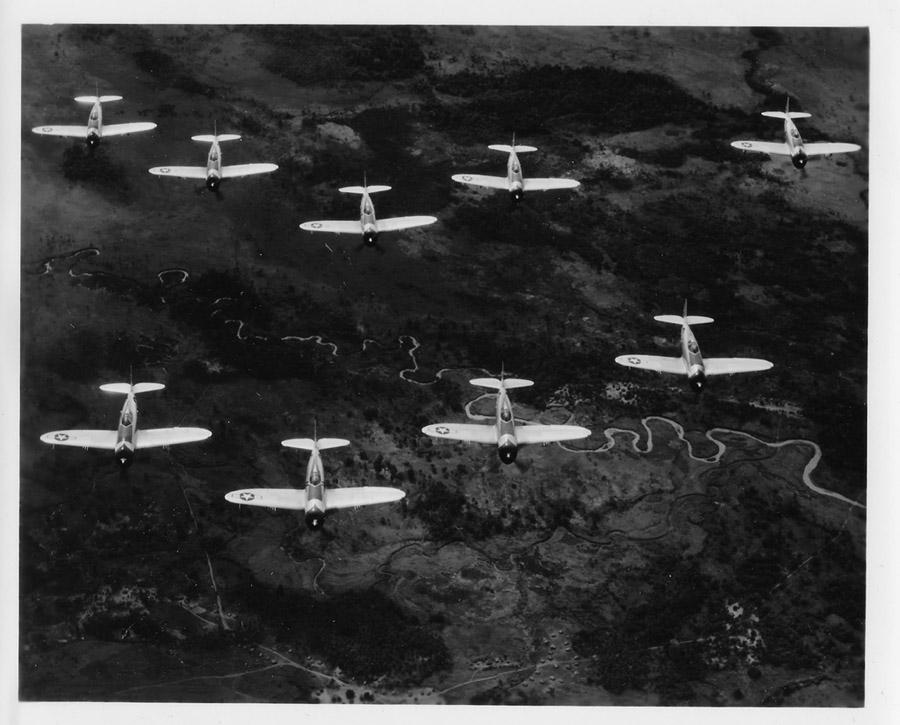 39th Fighter Squadron P-47s