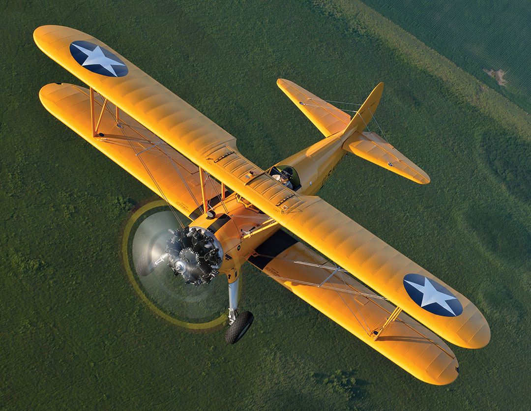 Stearman aerial restoration flying