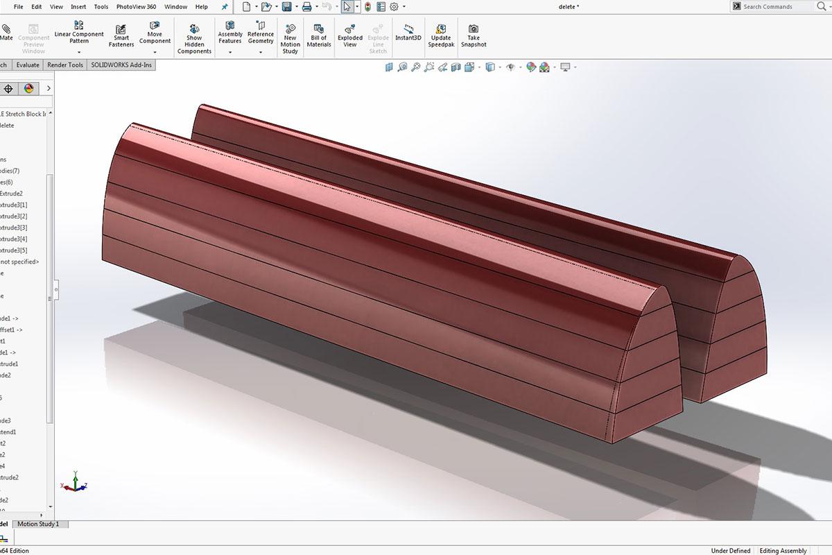 Tooling rendering