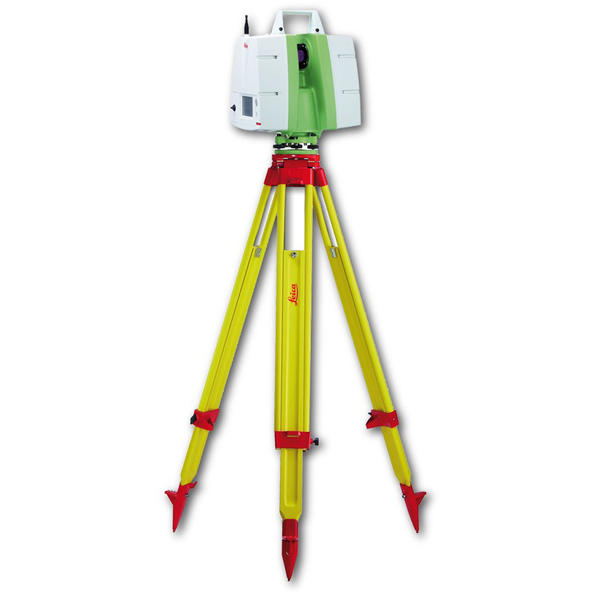A Leica Geosystems time of flight scanner. Note the requirement of a tripod to provide stabilization.