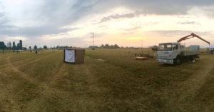 Dawn of dig day - 7/23/16 (photo credit: Eric Trueblood)