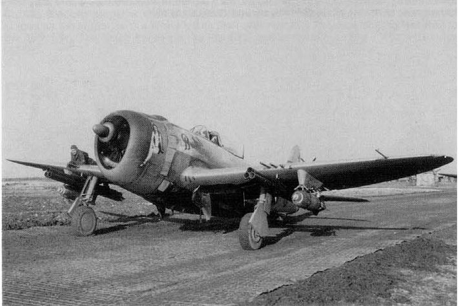 4.5 inch Rocket tubes and 500 pound bombs. USAAF photo