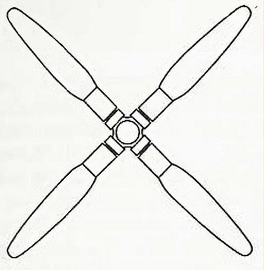 Curtiss Electric symmetrical paddle blade